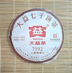 Китайский чай Шу пуэр Menghai Dayi 7592. . Вес 357г.2019г.