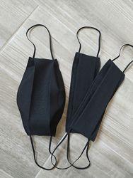 Черная многоразовая маска, черная маска