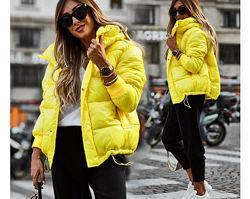 Женская зимняя куртка лакированная