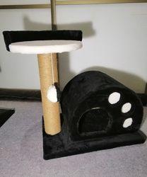 Домик для кошек с когтеточкой и полочкой