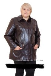 Куртки баталы-кожзам на ог до 140 см, цена шара