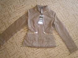 Стильные куртки кожзам  , реал фото