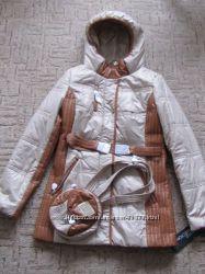 Модная куртка в р-ре с , 2 хл цена 2013 года, цвет беж