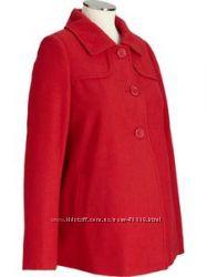 Новое демисезонное полушерстянное пальто для беременной old navy