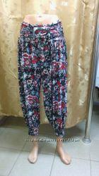 летние брюки-шаровары 7-8х, большой размер