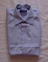 Стильная рубашка, новая, голубая в синюю полоску, на 9 лет