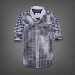 рубашки с белым воротом AbercrombieFitch, Нollister, Gilly Hickе