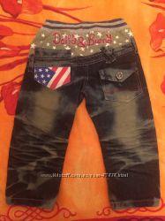 Модные джинсы, р. 92-98, длина 53 см, 1 раз одеты