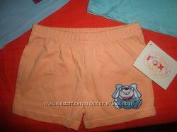 Новые шортики Foxy, 9-12 мес, хлопок