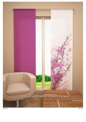 Новинка. Японские шторы с фотопечатью Яблоня в цвету.
